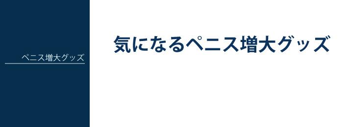 ペニス増大グッズ