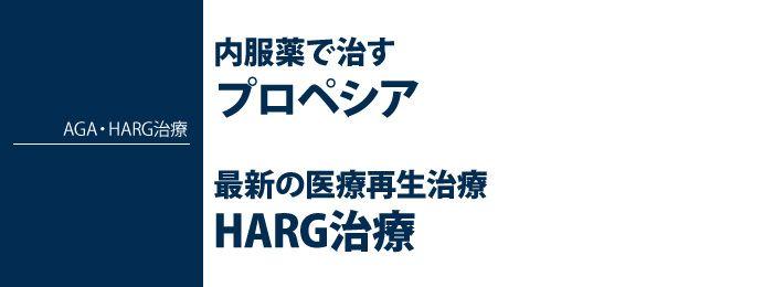 AGA治療のHARG療法について紹介しています